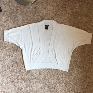 Cream shrug from Ann Taylor; size M; EUC